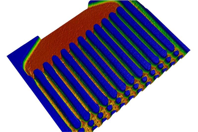 Microfuidic flow regulator - finger 20x